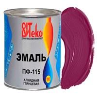 Эмаль ПФ-115 вишня 0,8 кг ВИТЕКО (эконом) (14)
