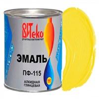 Эмаль ПФ-115 желтая 0,8 кг ВИТЕКО (эконом) (14)