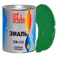 Эмаль ПФ-115 ярко-зеленая 0,8 кг ВИТЕКО (эконом) (14)