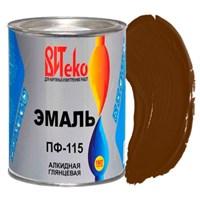 Эмаль ПФ-115 шоколад 0,8 кг ВИТЕКО (эконом) (14)