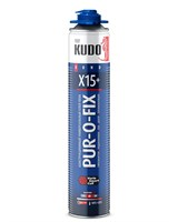 Клей-пена KUDO PUR-O-FIX X15+ SUPER FIX универ конструкционный проф всесез 1000мл/12
