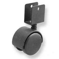 Колесо мебельное поворотное под ДСП 50мм черное 6001050Д