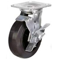 Колесо промышленное 200 мм. большегрузное, поворотное, с тормозом SCDB80