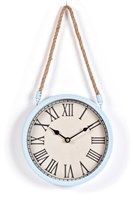 Innova Часы W08309, материал металл + крафт веревка, диаметр 22 см, цвет голубой