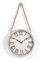 Innova Часы W08310, материал металл + крафт веревка, диаметр 22 см, цвет темно серый