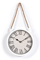 Innova Часы W08311, материал металл + крафт веревка, диаметр 22 см, цвет белый