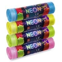 Пакеты для мусора GRIFON NEON 30л/50х60см/15шт c завязками