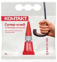 Клей-супер универсальный КОНТАКТ 1г пакет 6/120