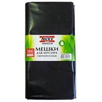 Мешки для мусора  NICKY HOME 360л/3шт/LDPE/85мкм СУПЕРГИГАНТ/Размер мешка в развернутом виде: 1030х1500