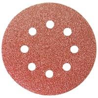 """Круг абразивный на ворсовой подложке под """"липучку"""", перфорированный, P 60, 125 мм, 5 шт.// Matrix"""