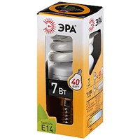 Лампа энергосбер. ЭРА 7 Вт F-SP-7-827-E14 12/48 теплый свет