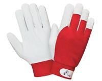 Перчатки кожаные комбинированые на липучке р-р 10,5