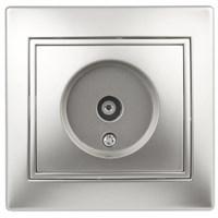 1-301-03 Intro Розетка TV одиночная, IP20, СУ, Plano, алюминий (10/200/2400)