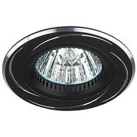 KL34 AL/BK Светильник ЭРА алюминиевый MR16,12V/220V, 50W черный/хром (50/2700)