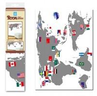 Наклейка Карта мира 3202 BK RDA