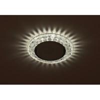 DK LD24 SL/WH Светильник ЭРА декор cо светодиодной подсветкой Gx53, прозрачный (50/800)