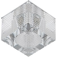 """DK11 CH/WH  ЭРА декор """"куб с горизонтальными полосками"""" G9,220V, 40W, хром/прозрачный"""