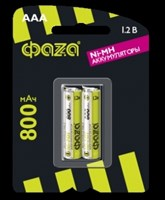 Аккумулятор размера AAА ФАZА AAА 800мАч BL-2/20