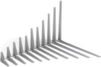 Кронштейн угловой с ребром 300х350 коричневый
