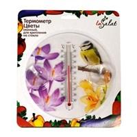 """Термометр оконный INBLOOM """"Цветы"""" d16,5х2см, для крепления на стекло, блистер"""