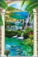 Фотообои Водный каскад (арка) 134*196 + (4 лист) Тула