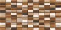 Панель ПВХ Плитка дерево (тёмный фон) 960*480мм /10шт