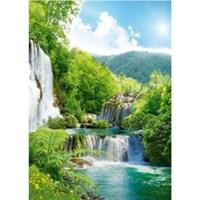 "Фотообои ""Твоя планета"" Люкс 8л. Каскад водопадов 194х272см"