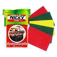 Губка для посуды NICKY HOME 5шт абразивная