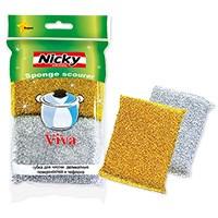 Губка для тефлона и деликатных поверхностей NICKY HOME VIVA 2шт.