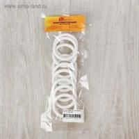 Кольцо для крепления штор с крючком d=35мм (белый) Гамма