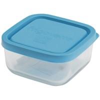 Контейнер стеклянный Frigoverre квадратный 10*10 см, 240 мл, с синей крышкой B335190