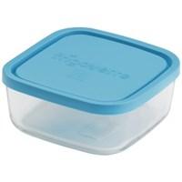 Стеклянный контейнер Frigoverre квадратный 22*22 см, 2800 мл, с синей крышкой B388910