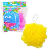 Мочалка для тела шарик VELL из безузловой сетки 25 грамм /Состав: нейлон