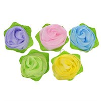 Мочалка-спонж в виде розы, 30г, 5 цветов