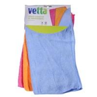 Набор салфеток из микрофибры VETTA универсальные 3 шт, махровые, 30х35см, 3 цвета, 3830-22