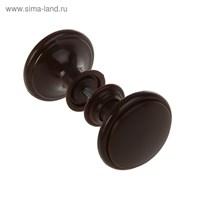 Ручка дверная пластмассовая, d=65, цвет шоколад   3651705