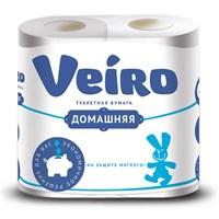 Туалетная бумага ВЕЙРО Домашняя 2-х сл. уп 4 рул.