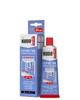 Герметик KUDO KST-100 силиконовый универсальный прозр, в тюбике 85 мл/12